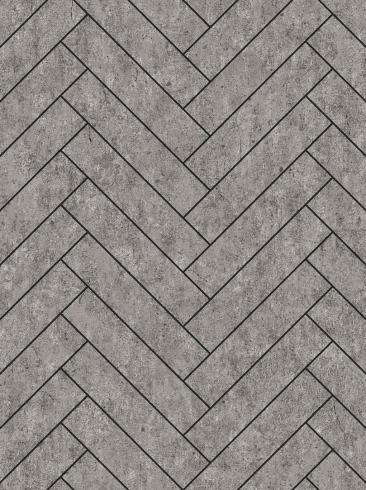 The wallpaper Raw Tiles from Engblad & Co. The wallpaper design and pattern is grey and consists of Concrete Geometric Graphic