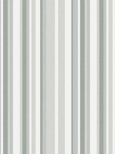 The wallpaper Rhythm from Boråstapeter. The wallpaper design and pattern is green and consists of Graphic Stripe Structure Textile