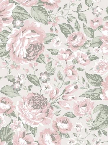 The wallpaper Rosie from Boråstapeter. The wallpaper design and pattern is pink and consists of Children's Floral