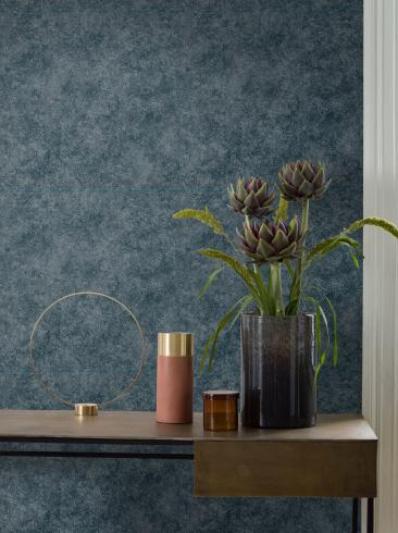 The wallpaper Royal from Engblad & Co. The wallpaper design and pattern is blue and consists of Single Colour