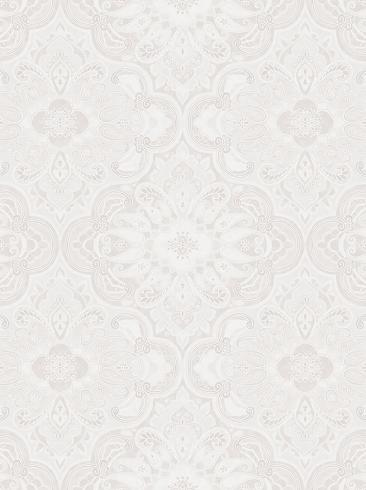 The wallpaper Rustic Ornament from Boråstapeter. The wallpaper design and pattern is white and consists of Damask