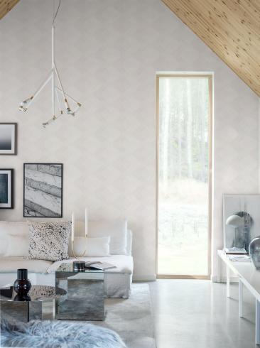 The wallpaper Sand Glass from Engblad & Co. The wallpaper design and pattern is white and consists of Single Colour
