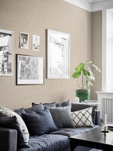 The wallpaper Serenade from Boråstapeter. The wallpaper design and pattern is neutrals and consists of Damask