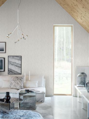 The wallpaper Shimmer Chalk from Engblad & Co. The wallpaper design and pattern is white and consists of Single Colour