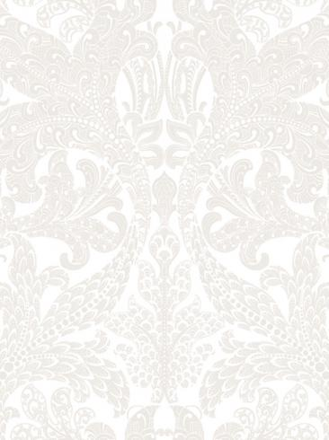 The wallpaper Spirit from Engblad & Co. The wallpaper design and pattern is white and consists of Damask