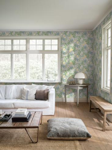 The wallpaper Spring Garden from Boråstapeter. The wallpaper design and pattern is multi and consists of Floral