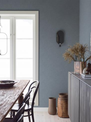 The wallpaper Thai Silk from Boråstapeter. The wallpaper design and pattern is blue and consists of Single Colour