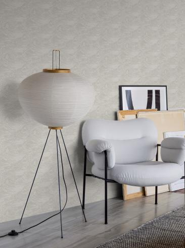 The wallpaper The Wave from Boråstapeter. The wallpaper design and pattern is grey and consists of Contemporary Structure