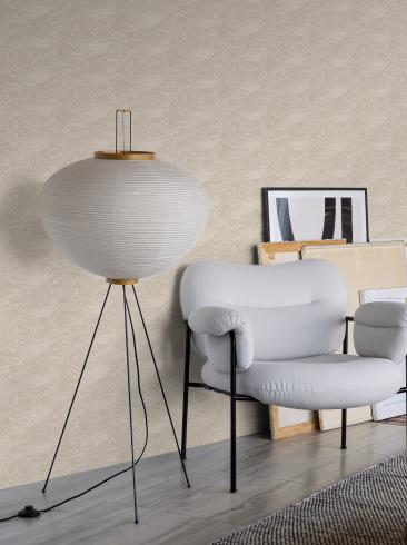 The wallpaper The Wave from Boråstapeter. The wallpaper design and pattern is neutrals and consists of Contemporary Structure