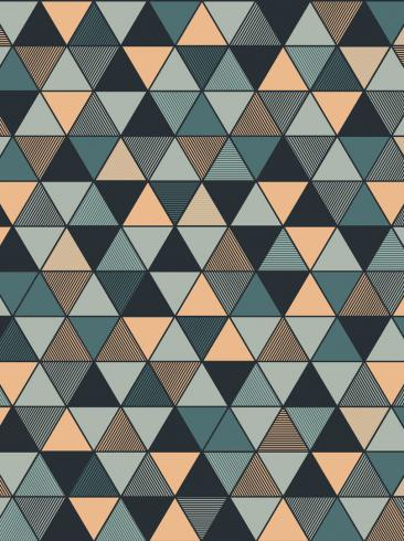 The wallpaper Triangular from Engblad & Co. The wallpaper design and pattern is blue and consists of Geometric Graphic