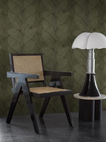 The wallpaper Urban Jungle from Engblad & Co. The wallpaper design and pattern is green and consists of Plants