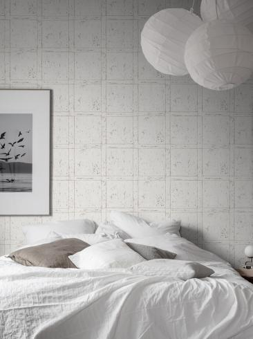 The wallpaper Vintage Panel from Boråstapeter. The wallpaper design and pattern is white and consists of Checked