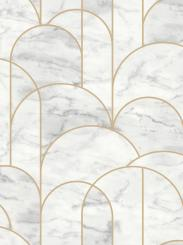 The wallpaper Arch from Engblad & Co. The wallpaper design and pattern is white and consists of Geometric Graphic
