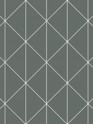The wallpaper Diamonds from Engblad & Co. The wallpaper design and pattern is green and consists of Geometric Graphic Harlequin