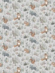The wallpaper Forest Friends Mural from Boråstapeter. The wallpaper design and pattern is multi and consists of Animals Children's Playful & Imaginative
