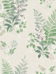 The wallpaper Foxglove from Boråstapeter. The wallpaper design and pattern is neutrals and consists of Floral