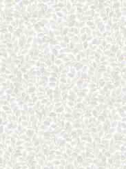 The wallpaper Hazel from Boråstapeter. The wallpaper design and pattern is grey and consists of Foliage