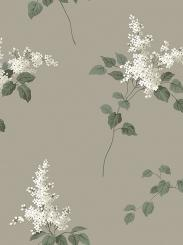 The wallpaper Lilacs from Boråstapeter. The wallpaper design and pattern is brown and consists of Floral