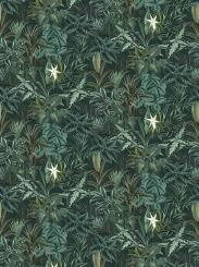 The wallpaper Madagascar Leaves from Boråstapeter. The wallpaper design and pattern is green and consists of Foliage Forest Plants