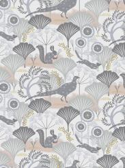 The wallpaper Mårdgömma from Boråstapeter. The wallpaper design and pattern is multi and consists of Playful & Imaginative