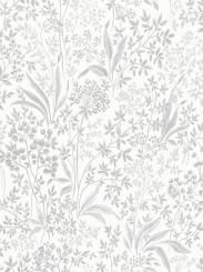 The wallpaper Nocturne from Boråstapeter. The wallpaper design and pattern is white and consists of Floral Foliage