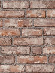 The wallpaper Original Brick from Boråstapeter. The wallpaper design and pattern is red and consists of Brick