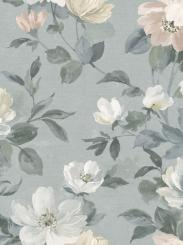 The wallpaper Peony from Boråstapeter. The wallpaper design and pattern is grey and consists of Floral