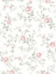 The wallpaper Rose Garden from Boråstapeter. The wallpaper design and pattern is white and consists of Children's Floral