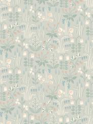 The wallpaper Strawberry Field from Boråstapeter. The wallpaper design and pattern is grey and consists of Floral