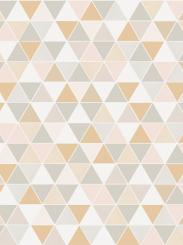 The wallpaper Triangular from Engblad & Co. The wallpaper design and pattern is pink and consists of Geometric Graphic